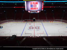 Montreal Canadiens Bell Center Seating Chart Bell Centre View From Club Level 213 Vivid Seats