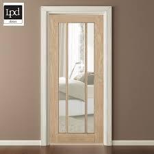 lpd oak langdale clear glass internal door