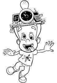 Kids N Fun Kleurplaat Jimmy Neutron Jimmy Neutron Met Pap En Mam