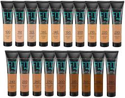 Maybelline Fit Me Colour Chart