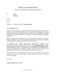 Termination Letter Template Format For Employee Due To