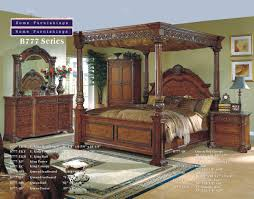 King Size Canopy Bed Cherry Wood Bedside Table