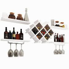 white wall mounted wine rack bottle