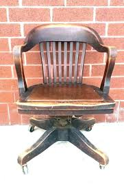 leather antique wood office chair leather antique. Retro Desk Chair Wooden Chairs  Office Used Leather Antique Wood O