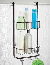 interdesign york lyra bathroom shower caddy shelves bronze at