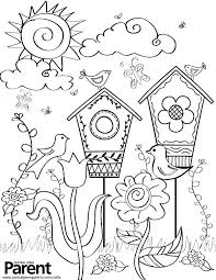 Spring Flower Coloring Pages For Toddlers Coloring Pages Best