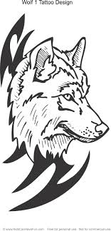 Wolf 1 Tattoo Design Coloring Page
