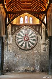 photo art print king arthur s round table on temple wall in winchester england u europosters