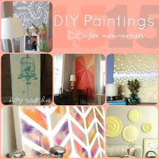 Art For Non Artists 15 Diy Paintings For Non Artists Inspiration Canvas Art And Cursive