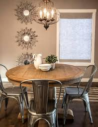 round kitchen table extraordinary dining room rustic table metal round farmhouse dining minimalist