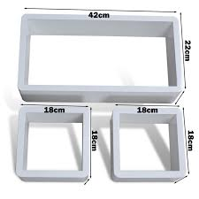 White Square Floating Shelves Cool White Floating Box Shelves Morespoons Cd32a32a32d325