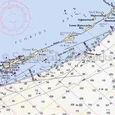 Florida Duck Key Grassy Key Long Key Nautical Chart Decor