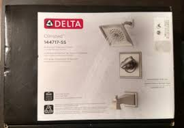 delta olmsted 144717 ss shower fixture handle faucet trim valve new