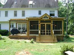 screened in deck. Screened In Deck Front View Of Room And With Pergola . N