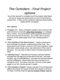 essays poems and other fun stuff our first book reports outsiders  the outsiders essay sample extended definition business to titles 1514582 outsiders essay essay medium
