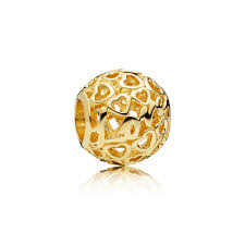 glowing with love charm 14k gold yellow gold 14 k pandora