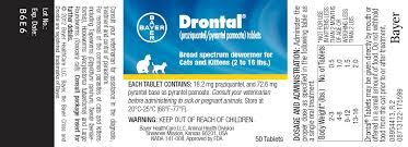 Drontal Feline Dosage Chart Drontal Praziquantel Pyrantel Pamoate Tablets Broad