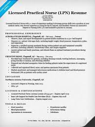 Licensed Practical Nurse (LPN) Resume Sample