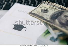 Loan Calculator College Tuition Fee Student Loan Calculator Education Stock Photo