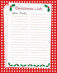 Blank Christmas List A Vector Illustration Of A Dear Santa Blank Christmas List