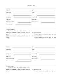 Simple Rental Lease Agreement Lease Template For Renting A Room
