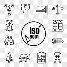 Set Of 13 Transparent Editable Icons Such As Iso 9001 Surveyor