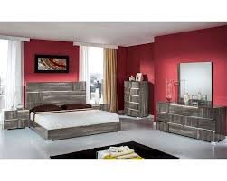 Italian Bedroom Set contemporary italian bedroom set in grey lacquer 44b108set 3522 by guidejewelry.us