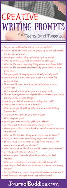 55 Creative Writing Prompts For Tweens And Teens Journalbuddiescom