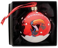 Guinness Toucan Christmas Glass Bauble (2395b)