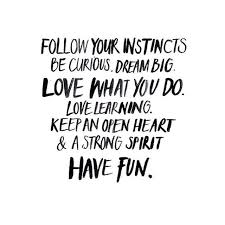 Follow Your Dream Quote Best Of Follow Your Instincts Be Curious Dream Big Love What You Do Love
