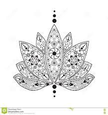 нарисованный рукой лотос индейца хны элемента татуировки иллюстрация