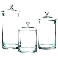 colored glass canisters kitchen canister sets clear set of 3 round vintage for