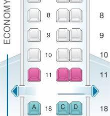 Er4 Embraer Erj 145 Seating Chart Seat Map United Airlines Embraer Emb 145 Er4 Erj China