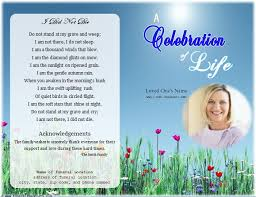 Life Single Fold Memorial Program Funeral Program Template