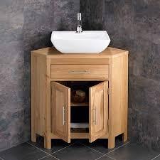 double door 780mm oak corner vanity