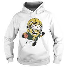 hoo green bay packers minions playing rugby shirt