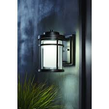 Black Front Porch Lights Home Decorators Collection Black Outdoor Led Wall Lantern Sconce
