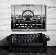 office canvas art. Stay Humble Hustle Hard - Smooth Sea Never Made A Skilled Sailor Motivational Inspirational Canvas Office Art