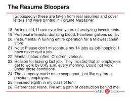 Amazing Resume Bloopers Photos - Simple resume Office Templates .