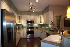 kichen lighting. Best Stunning Modern Small Apartment Kitchen Interior Desaign With Lighting Fixtures At Kichen