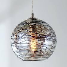 gallery lighting swirling glass globe pendant light large uk