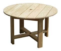 round wooden patio table designs