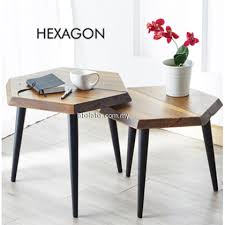 hexagon coffee table side table