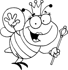 B Is For Bee Queen Bee Coloring Page For Kids Coloring Guru