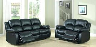 black leather reclining sofa. Italian Leather Recliner Reclining Sofa Set Black Bonded Swivel Chair
