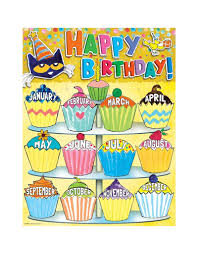 Learning Resources Birthday Pocket Chart Pete The Cat Happy Birthday Chart