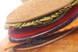 Quilted Hot Pad Patterns & Pattern for Build A Burger Potholder via Craftsy member Stephanie Williams Adamdwight.com