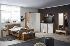 Priess Schlafzimmer Set Paris Wildeiche Nachbildung Weiß Möbel