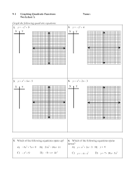 9 2 skills practice solving quadratic equations by graphing worksheet answers 2