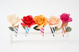How To Make Paper Cones For Flower Petals Five Crafts To Make With Paper Flowers